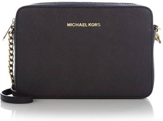 Michael Kors Jet Set Travel Large EW Crossbody Crossbodytas Zwart