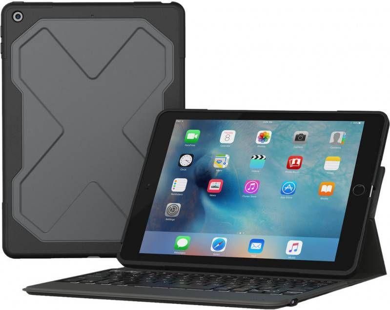 ZAGG Rugged Messenger Keyboard QWERTY iPad 2017 2018 zwart