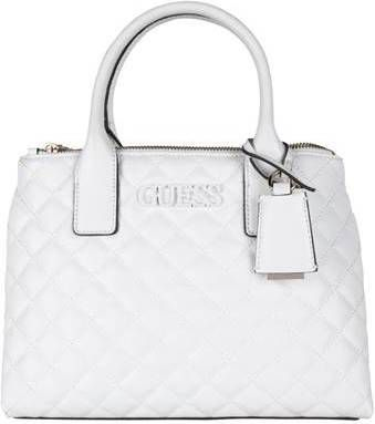 Guess Elliana status Satchel Handtassen Wit
