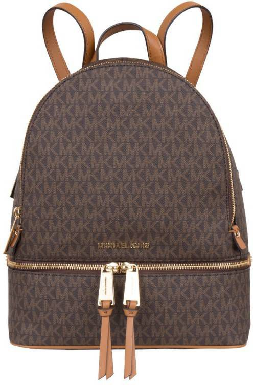 Michael Kors Dagrugzak Rhea Zip Medium Backpack Bruin