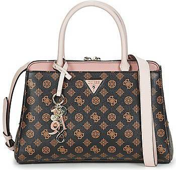 Guess Handtassen Kathryn Girlfriend Satchel Beige