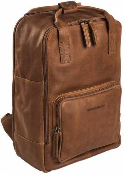 872528fd781 Chesterfield Leren Laptop Rugtas 15 inch Dex Cognac ...