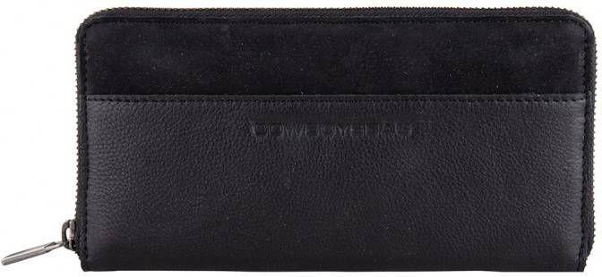 Cowboysbag Tri fold portemonnees Purse Adel Zwart