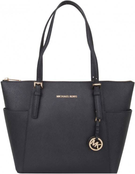 Michael Kors Handtassen Jet Set Item EW Top Zip Tote Blauw