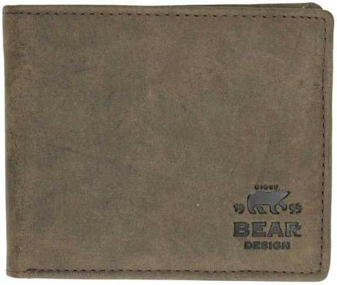 Bear Design Dark Nature Dames Portemonnee brown