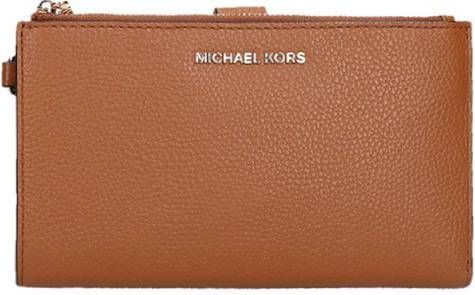 Michael Kors Jet Set Double Zip Wristlet portemonnee burnt orange