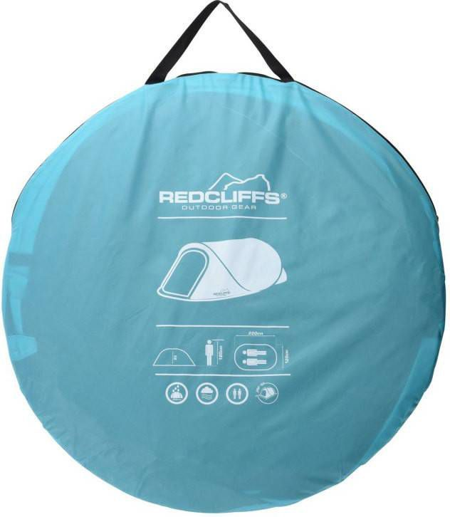 1 Persoons pop up tent blauw 220x120x90cm Dunlop 112x112x94