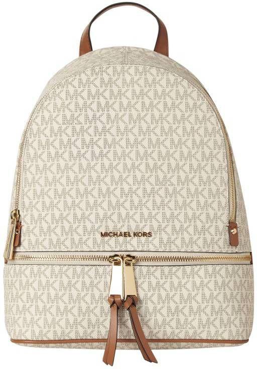 Michael Kors Rhea Zip Medium Backpack Rugzak Bruin